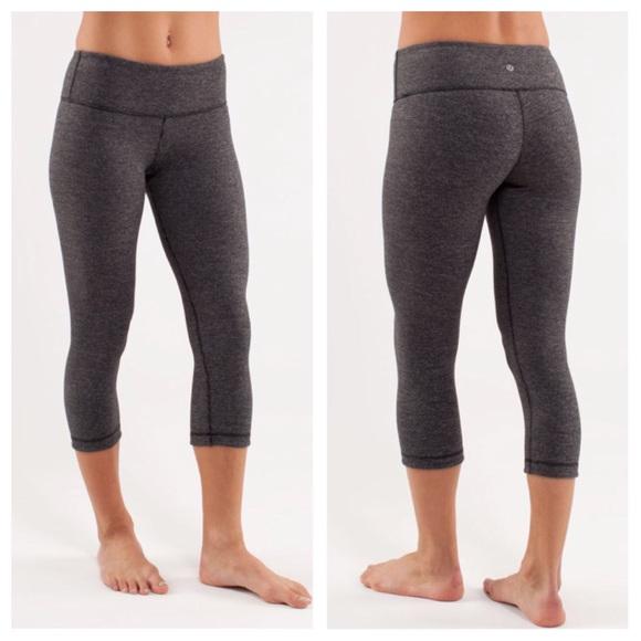 dcd724d4d4c37 lululemon athletica Pants - Lululemon Wunder Under Wee Stripe Crop Leggings